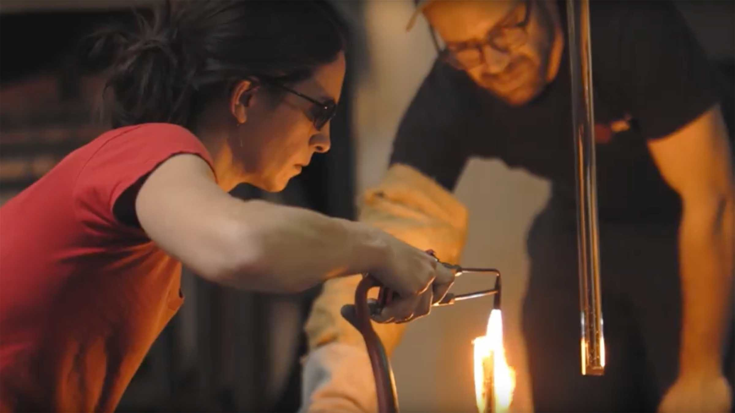 Carlyn Ray Designs Glassblowing and Assembly Image